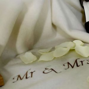 Cashmere Wool Blanket - Mr and Mrs